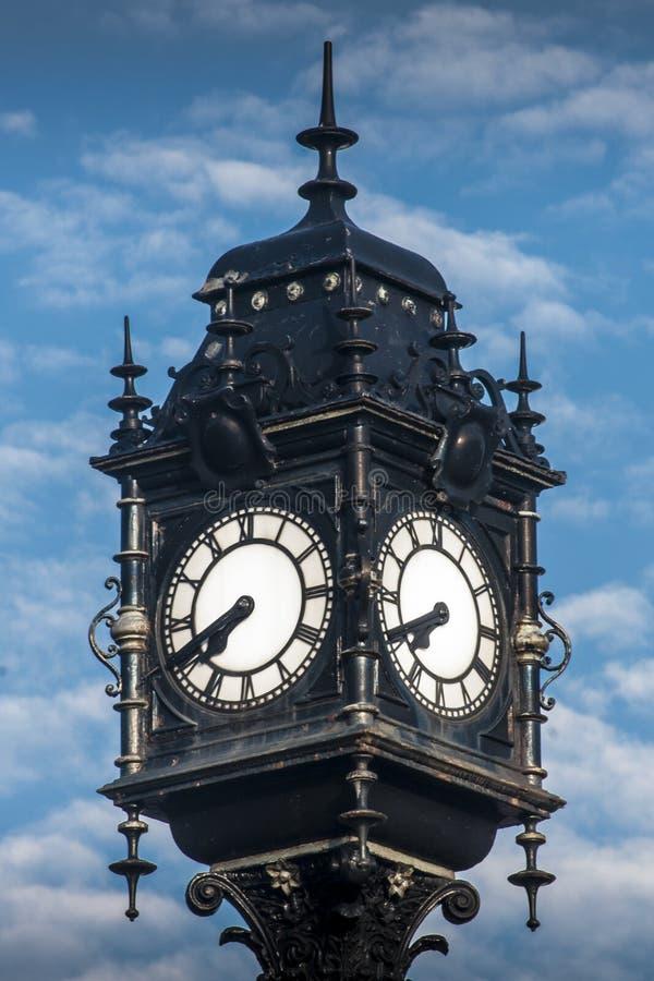 Grande horloge au chasseur de cygne, Wallsend photo stock