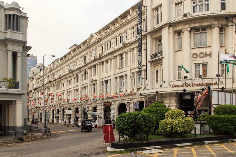Grande hotel orientale, costruzione coloniale di lusso alla via di York a Colombo, Sri Lanka fotografia stock libera da diritti