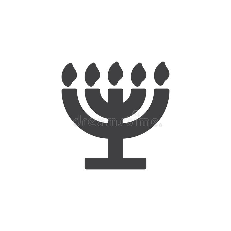 Grande icône de vecteur de Menorah illustration stock