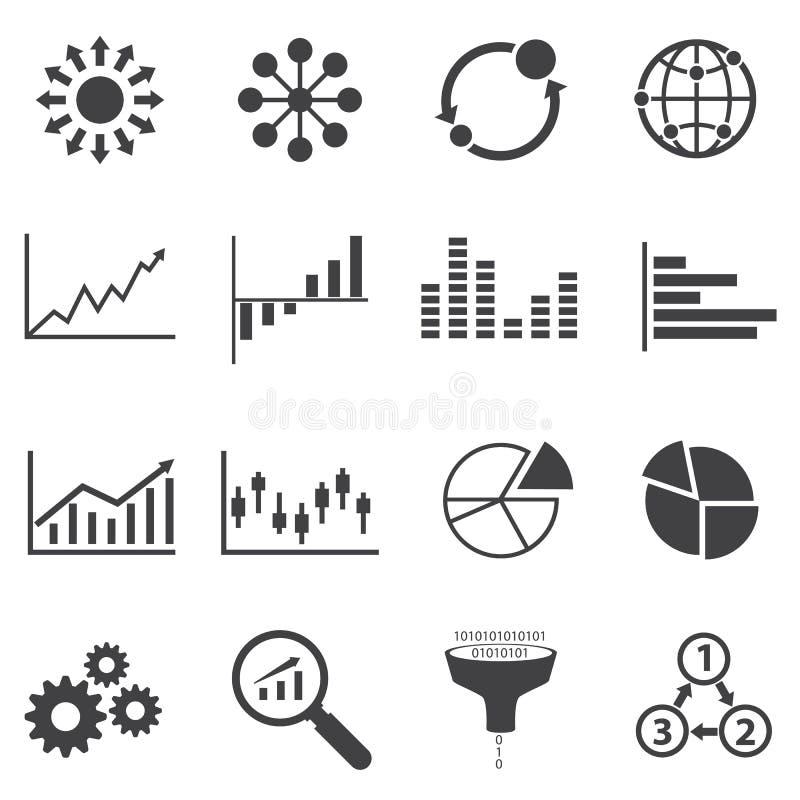 Grande icône de données, affaires Infographic illustration libre de droits