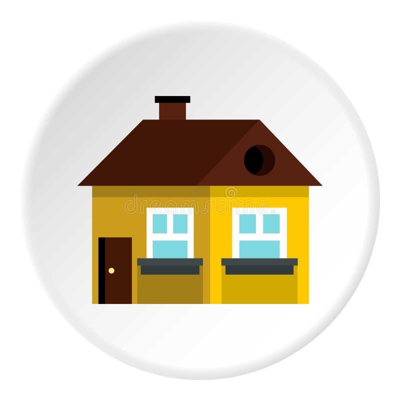 Grande icône de maison d'étage unique, style plat illustration libre de droits