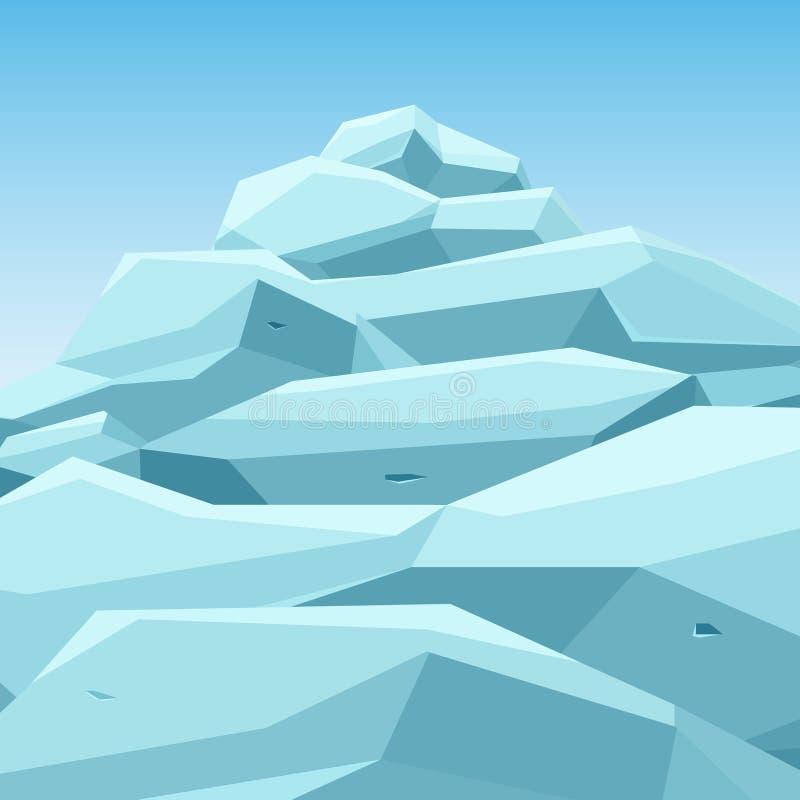 Grande iceberg blu illustrazione di stock