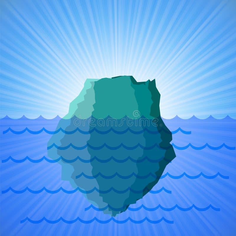 Grande iceberg della neve illustrazione vettoriale