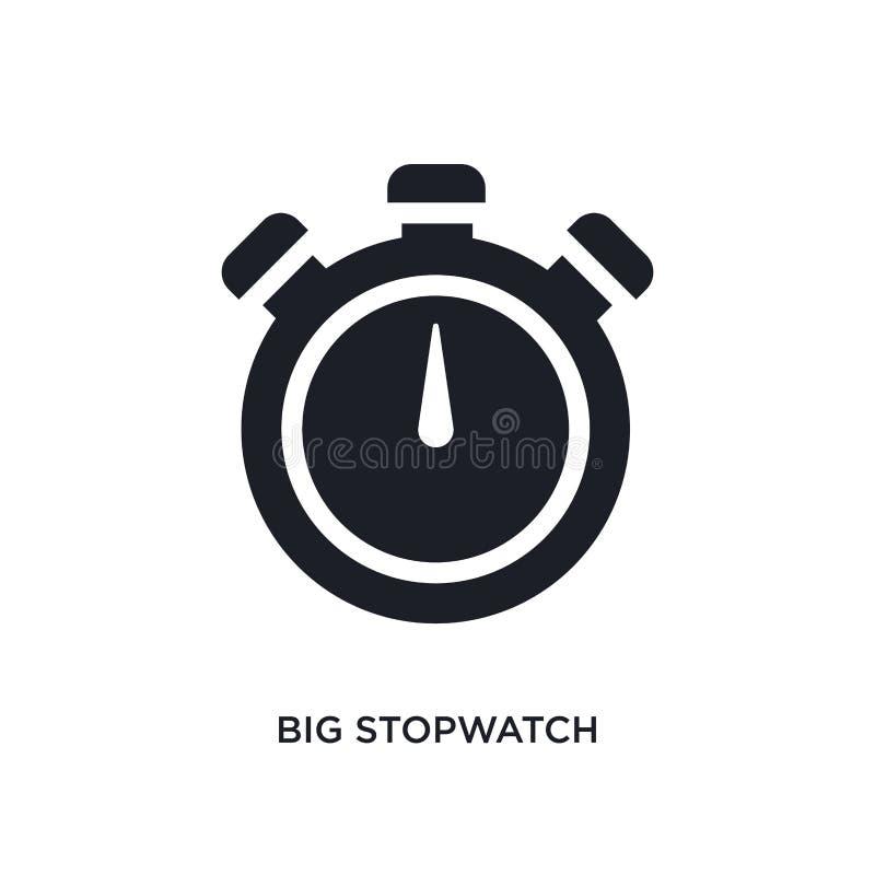 grande icona di vettore isolata cronometro nero illustrazione semplice dell'elemento dalle icone di vettore di concetto di forma  illustrazione vettoriale