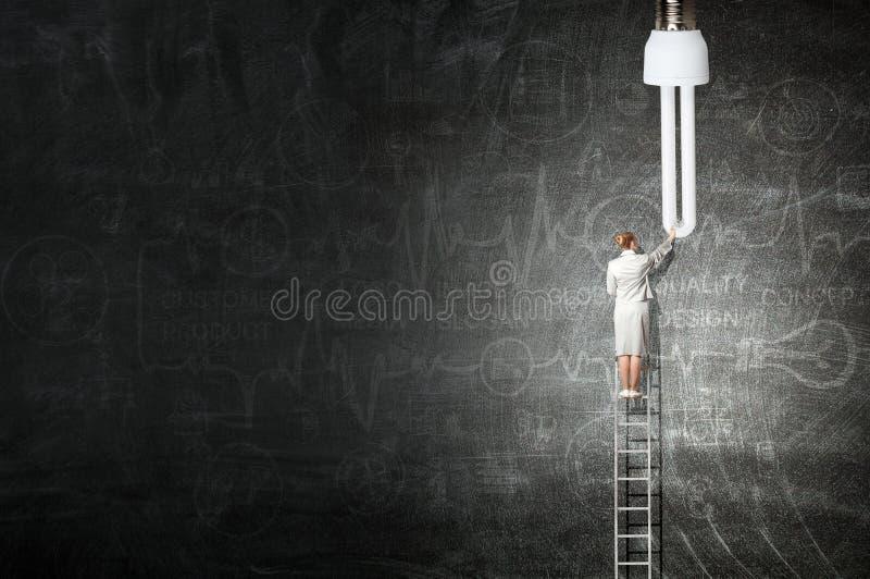 Grande idea per il raggiungimento di successo Media misti illustrazione di stock