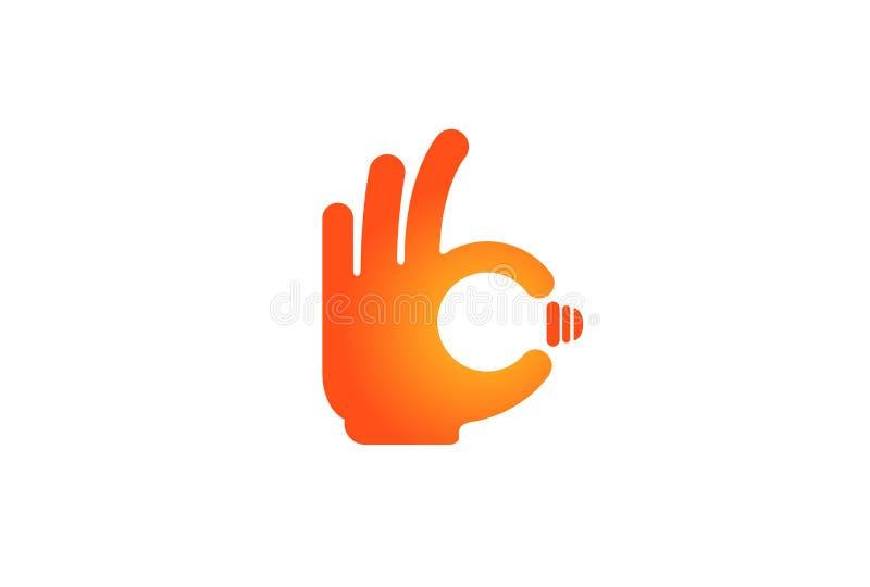 Grande ideia Logo Design ilustração do vetor