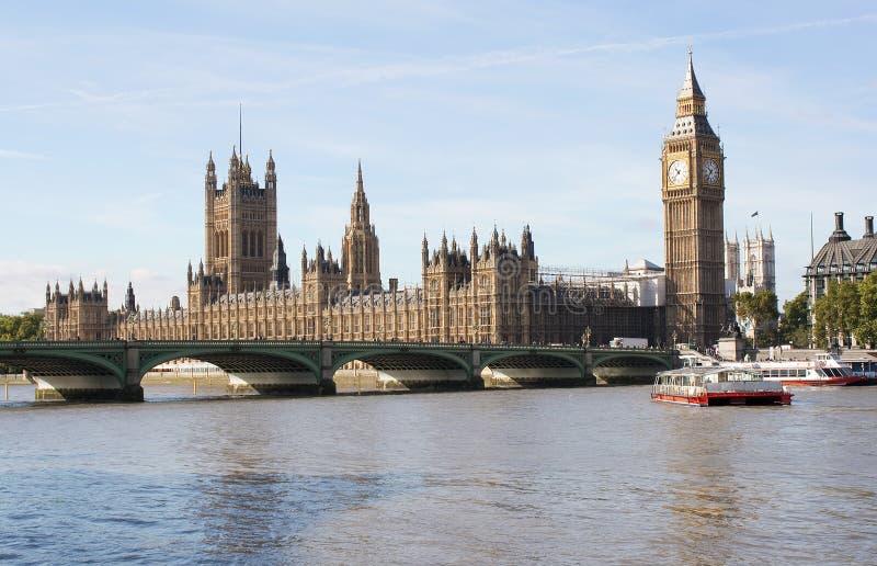 Grande il ponticello di Westminster e del Ben a Londra fotografia stock libera da diritti