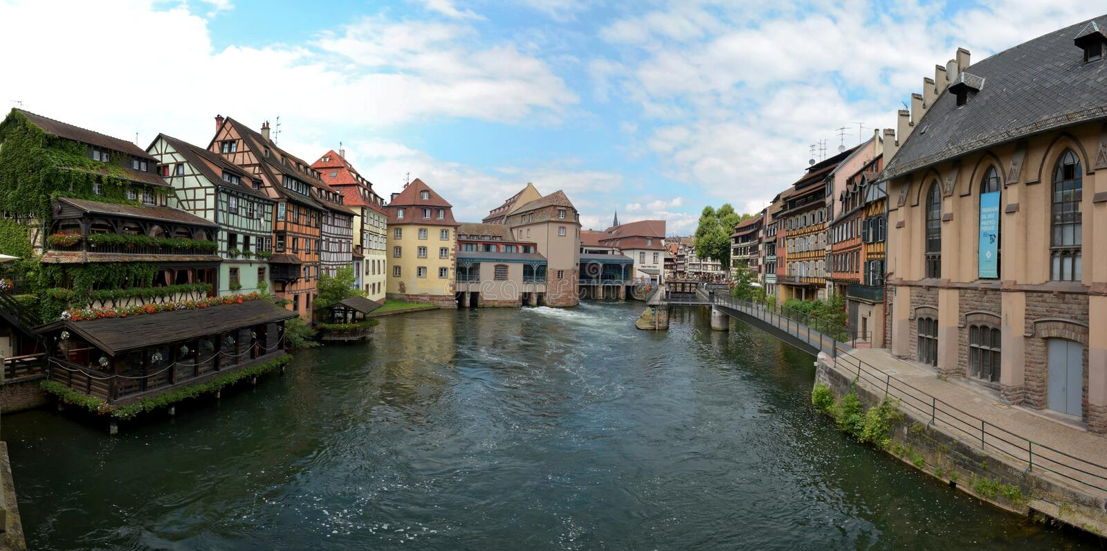 Strasbourg`s historic city centre royalty free stock photo
