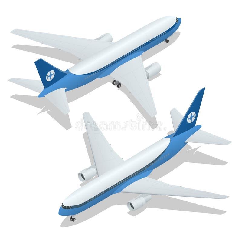 Grande illustration isométrique de l'avion 3d de passager Fret d'avion Transport de haute qualité isométrique du vecteur 3d plat illustration de vecteur