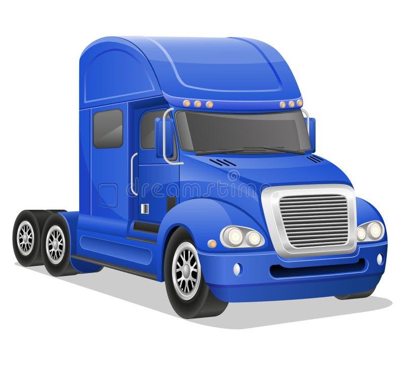 Grande illustrazione blu di vettore del camion illustrazione di stock