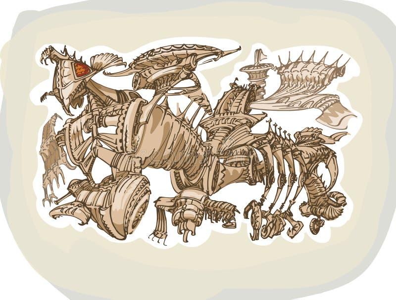 Grande illustrazione immaginaria dell'insetto illustrazione vettoriale