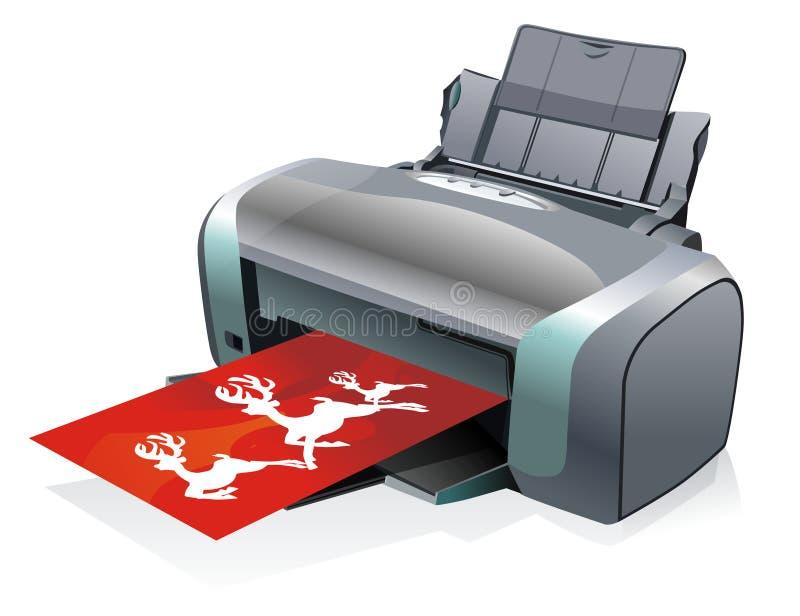 Grande impressora colorida ilustração do vetor