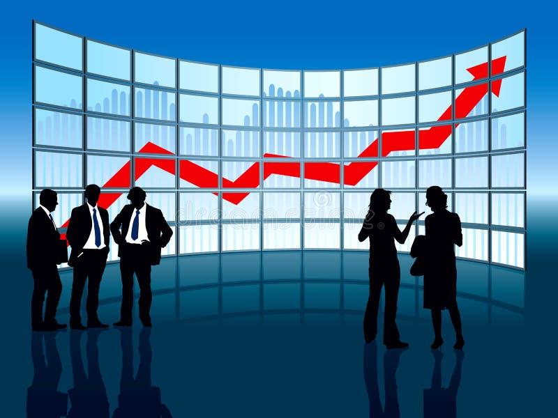Grande indicador ilustração stock