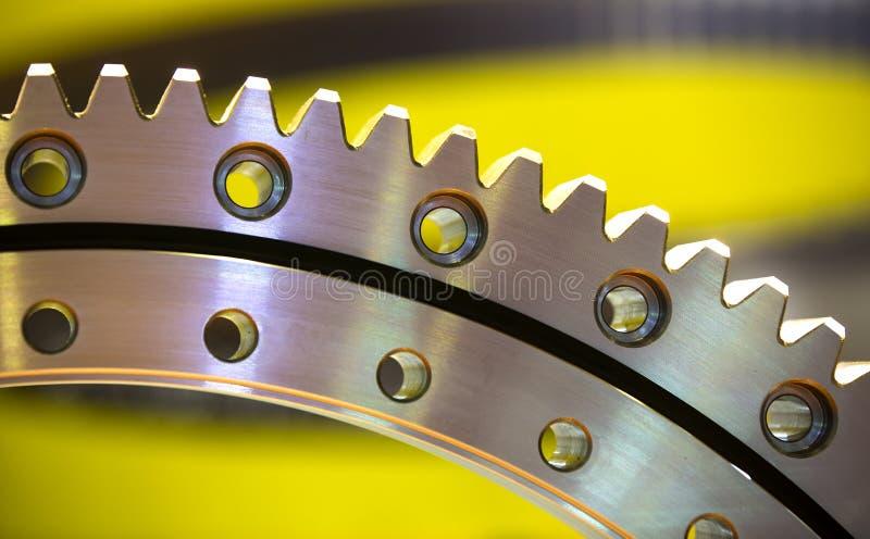 Grande ingranaggio d'acciaio fotografie stock libere da diritti