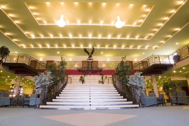 Grande ingresso dell'hotel immagini stock