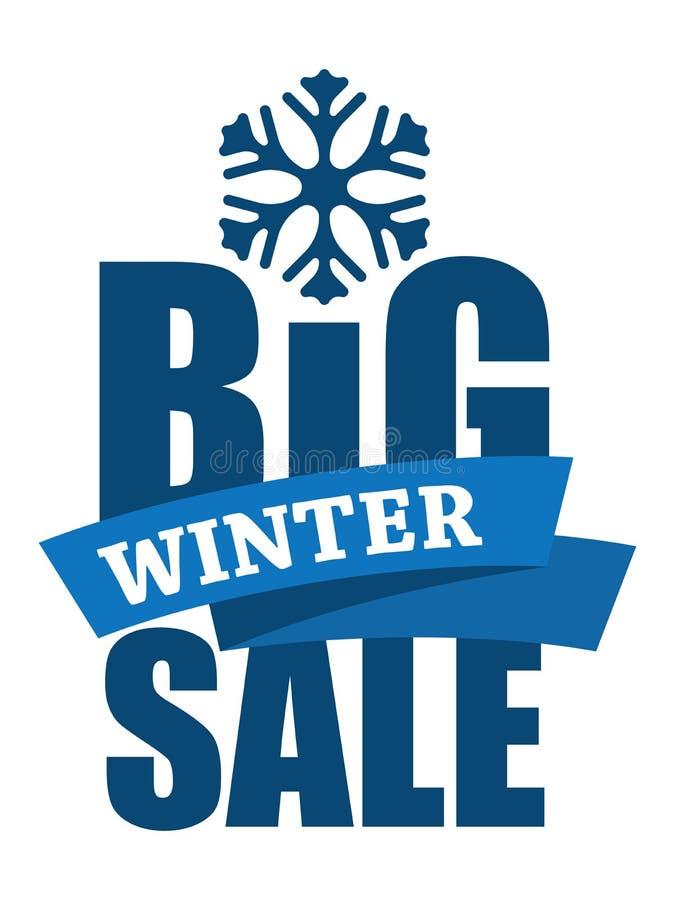 Grande inscription de vente d'hiver illustration stock