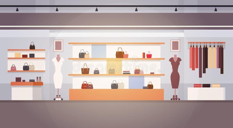 Grande insegna interna femminile del centro commerciale dei vestiti del supermercato del negozio di modo con lo spazio della copi royalty illustrazione gratis