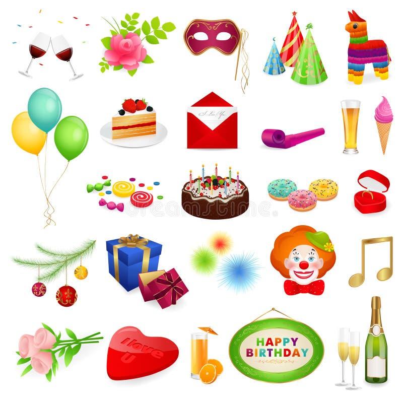 Grande insieme: feste royalty illustrazione gratis