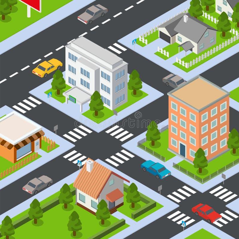 Insieme isometrico dell 39 icona delle case differenti for Costruzioni case moderne