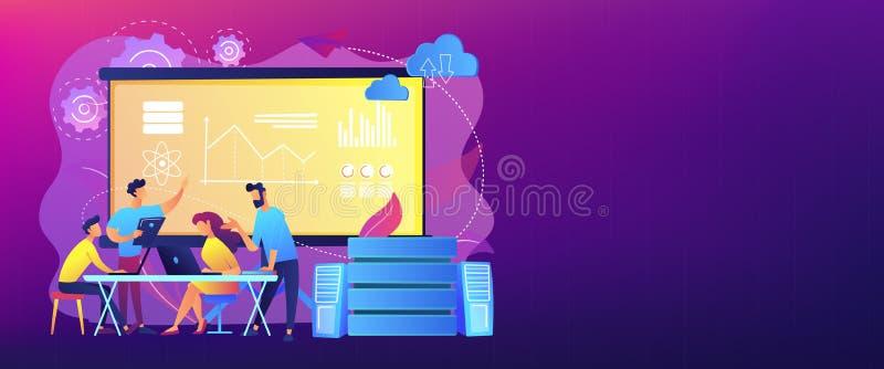 Grande intestazione dell'insegna di concetto di conferenza di dati illustrazione di stock