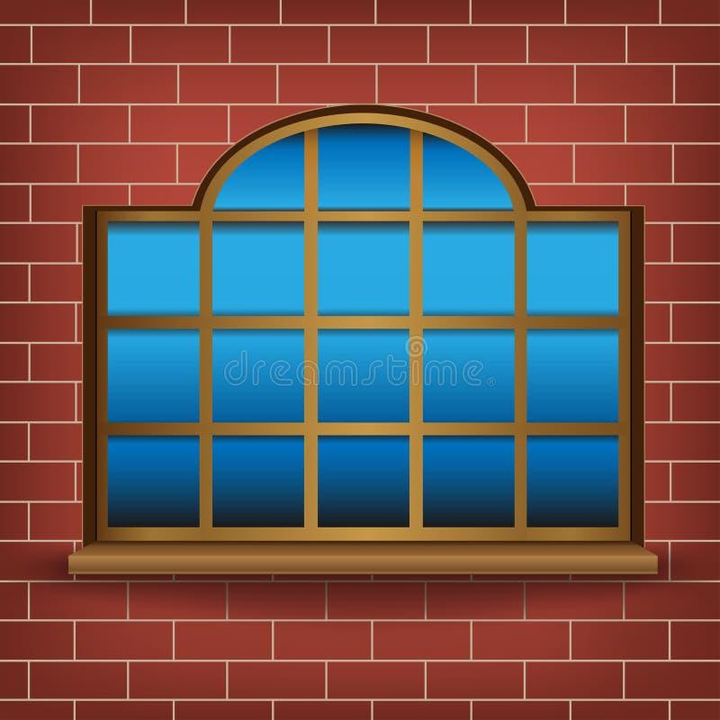 Grande janela ilustração do vetor