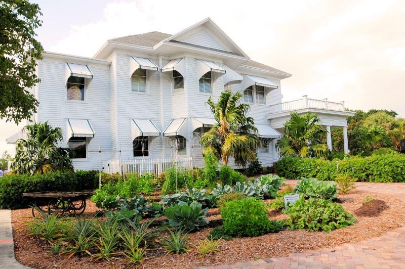 Grande jardim antigo da casa, FL imagens de stock