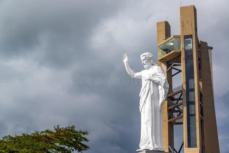 Grande Jesus Statue View fotografia stock