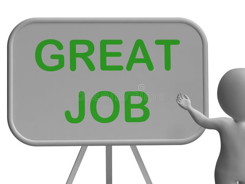 Grande Job Whiteboard Means Affirmation ilustração royalty free