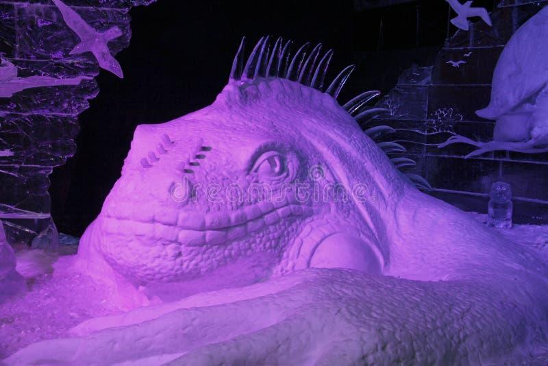 Grande lagarto anfíbio do gelo fotografia de stock