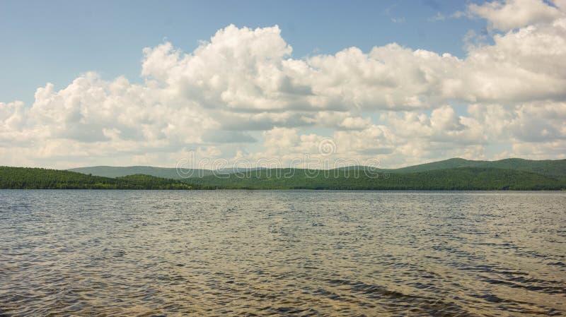Grande lago fotografia stock