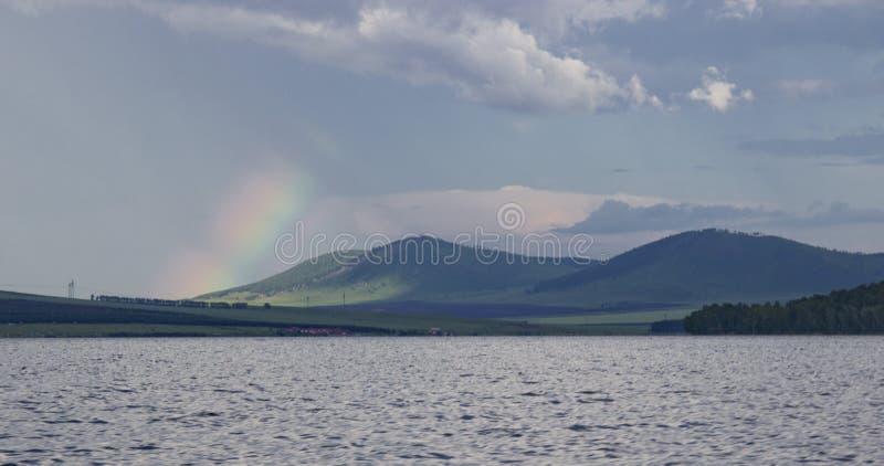 Grande lago in Siberia immagini stock libere da diritti