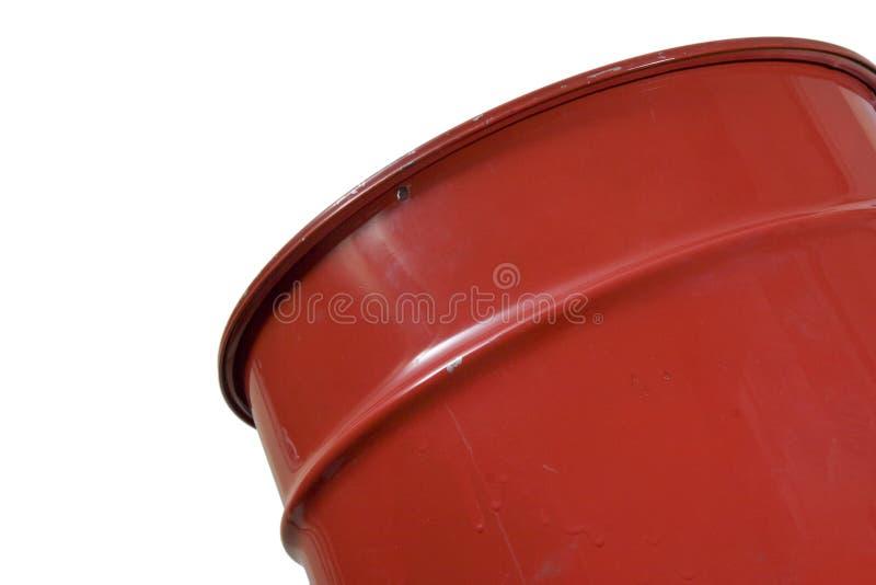 Download Grande latta rossa immagine stock. Immagine di contaminazione - 3146225