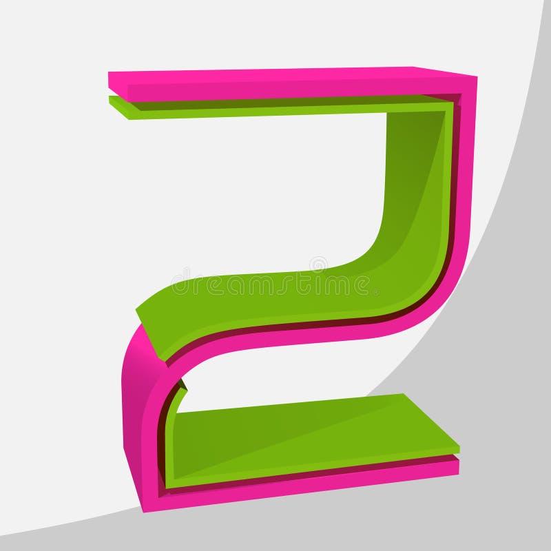Grande lettera variopinta 3D Illustrazione d'avanguardia di vettore immagini stock libere da diritti