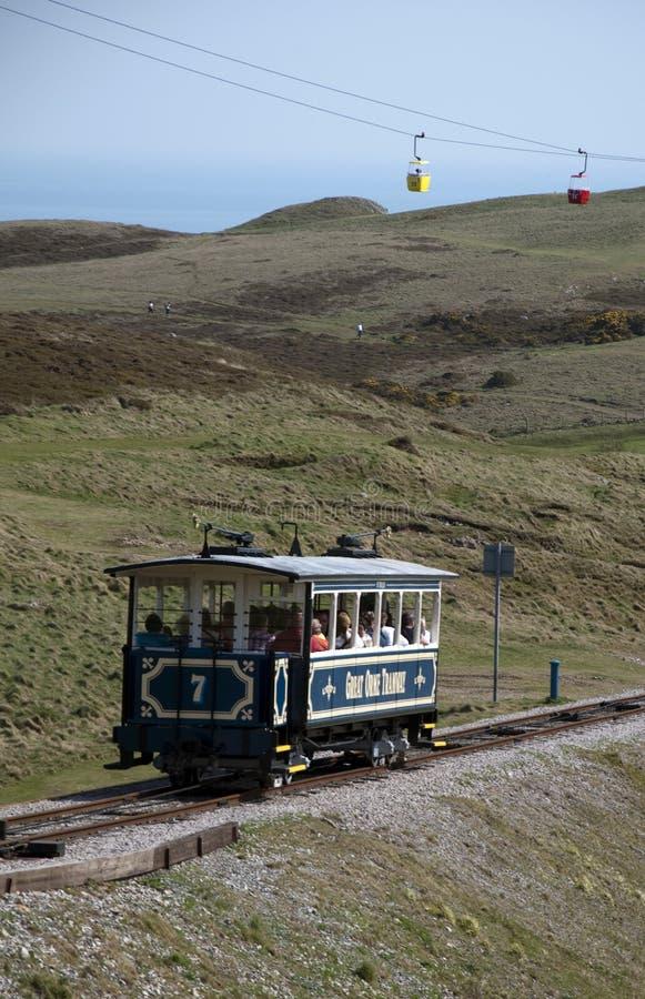 Grande linea tranviaria di Orme in Llandudno fotografie stock