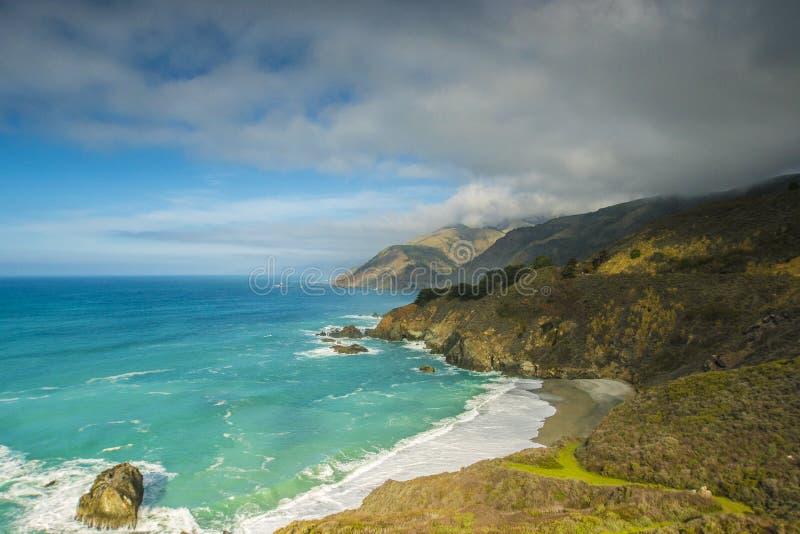 Grande litorale di Sur California fotografia stock