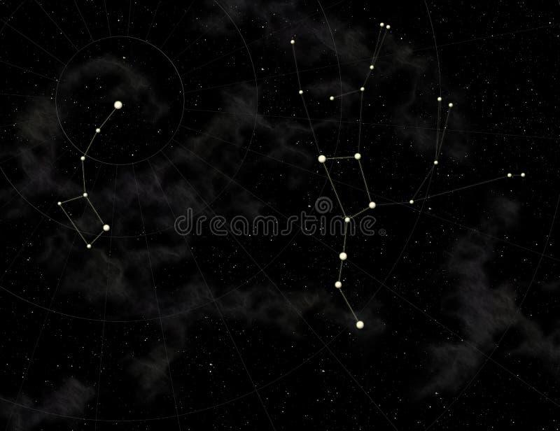 grande louche de constellation petite illustration libre de droits
