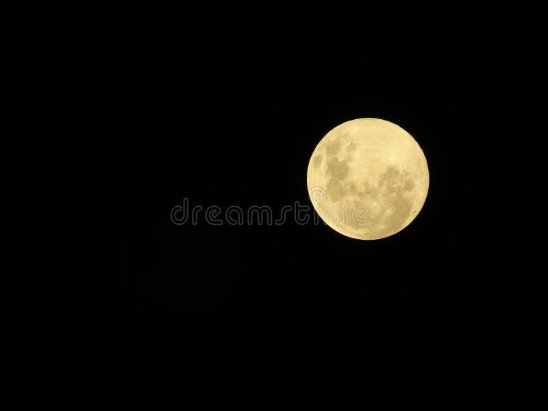 Grande lua brilhante da neve no céu escuro imagem de stock royalty free