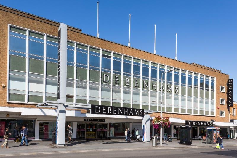 Grande magazzino di Debenhams - esterno, erpice, Regno Unito immagini stock