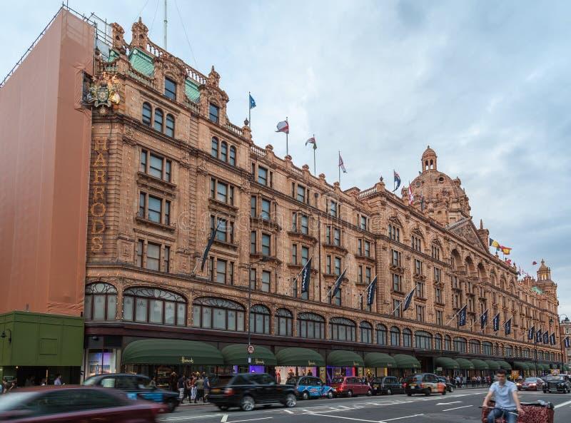 Grande magazzino di Harrods Londra Inghilterra fotografie stock libere da diritti