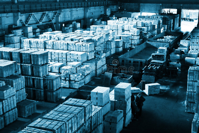 Grande magazzino industriale fotografia stock libera da diritti