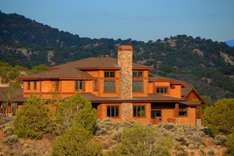 Grande maison dans le Colorado images libres de droits