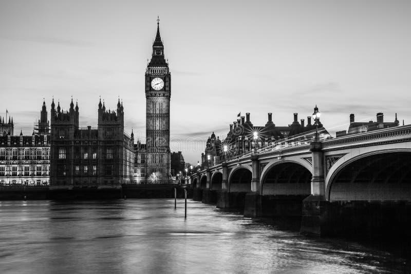 Grande maison de Ben Clock Tower et du Parlement photo stock