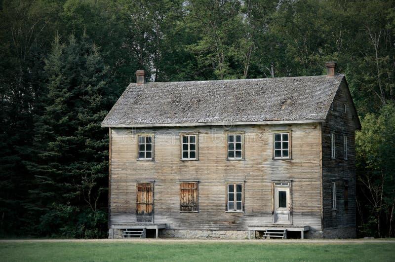 Grande maison hantée photo stock