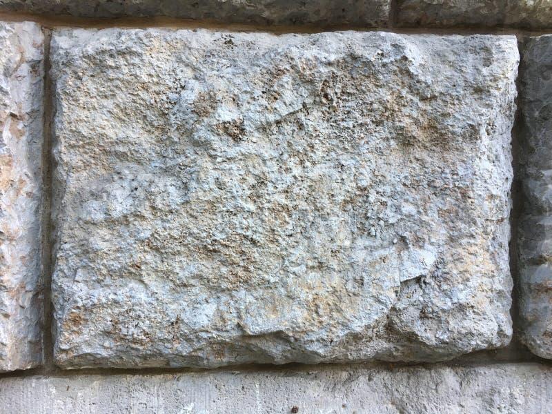 Grande mattone di struttura della parete di pietra su monumento storico antico immagini stock libere da diritti
