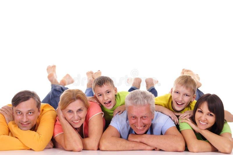 grande menzogne della famiglia fotografie stock libere da diritti
