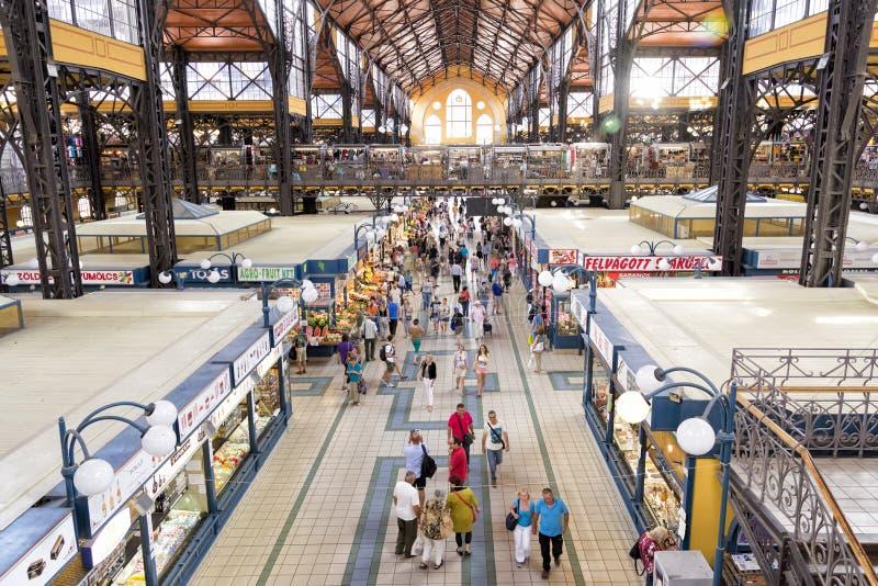 Grande mercato Corridoio, Budapest, Ungheria immagini stock libere da diritti
