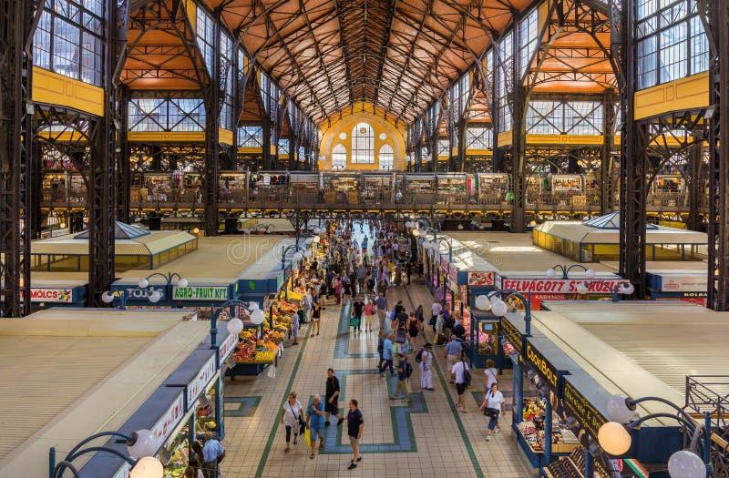 Grande mercato Corridoio di Budapest fotografia stock libera da diritti