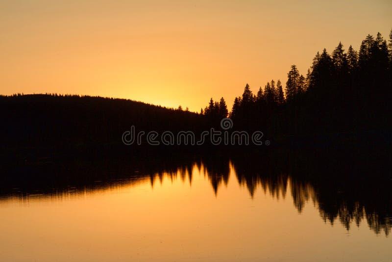 Grande Mesa Sundown fotografie stock