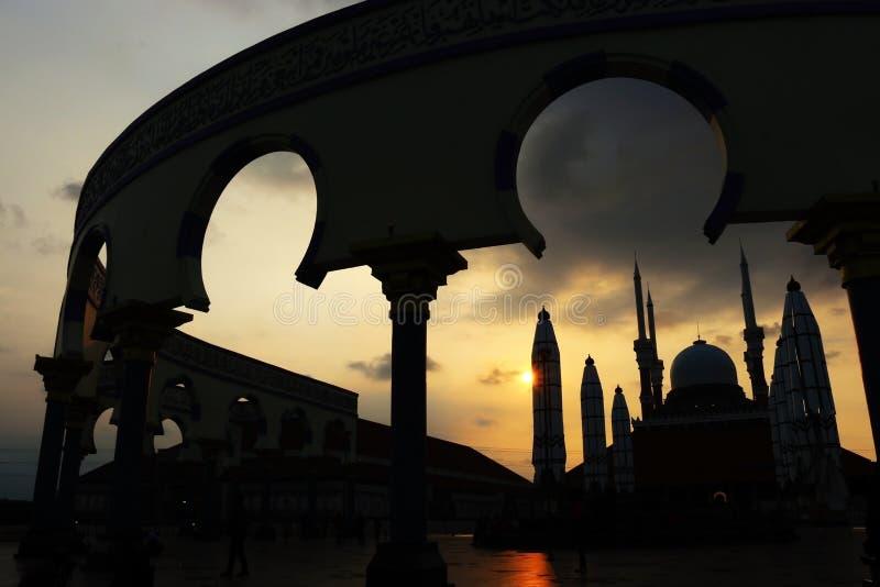 Grande mesquita de java central imagem de stock