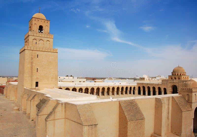 Grande mesquita de Kairouan fotografia de stock